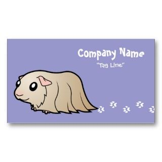 Cartoon Guinea Pig (lilac) business cards by SugarVsSpice