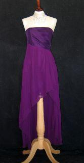 Jessica McClintock 54383 Black Taffeta Chiffon Dress 6
