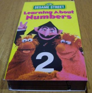 Sesame Street Learning About Numbers VHS Video