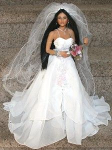 Love Native American Indian or Traditional Bride Doll McClure