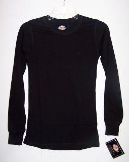 Dickies Medical Uniforms Long Sleeve 100 Cotton Black Undershirt XS