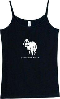 Shirt Tank Baaa Means Nooo Animal Sheep Sexual