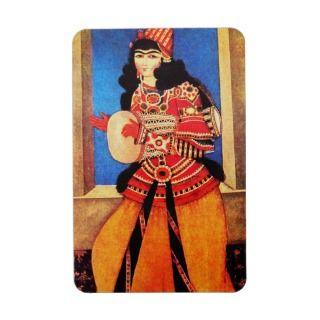 Dancing Persian Girl. Muslim Holiday Gift Magnet