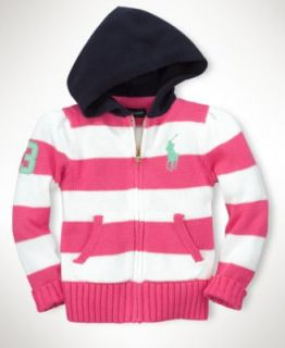 Ralph Lauren Kids Hoodie, Little Girls Hooded Sweatshirt   Kids