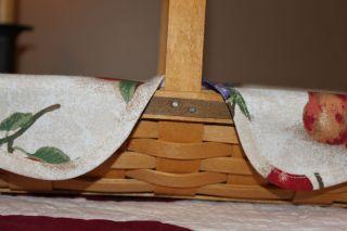 Custom Fruit Medley Fabric Liner for Longaberger Baguette Basket