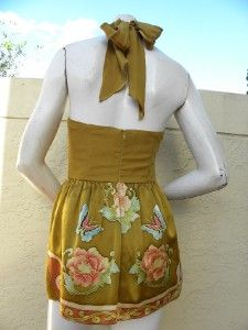 Meghan Los Angeles Gorgeous Silk Floral Strapless Tunic Dress Sz 2