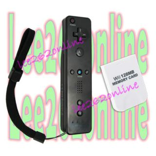 Wireless Remote Controller For NINTENDO WII Game+128 MB Memory Card