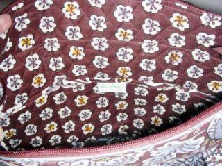 Vera Bradley Villager Tote or Shoulder Bag in Slate Blooms New