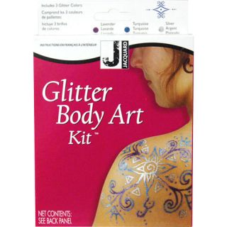 Jacquard Mehndi Glitter Body Art Kit Temporary Tattoo Set
