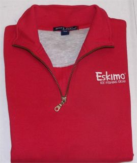 Eskimo Ice Fishing Gear 1 4 Zip Red Longsleeve Sport Tek Unisex