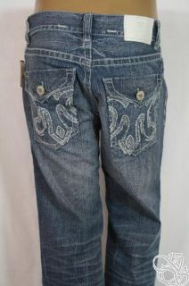 MEK Denim Chesterfield Boot Cut Medium Blue Jeans Mens Pants New