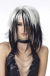 Super Streak Shag Hot Gothic Punk Rock Costume Wig