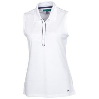 New Tommy Hilfiger Golf Womens Sleeveless Polo Shirt   White or