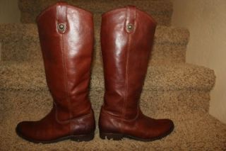 Frye Melissa Button Boot in Dark Brown Womens Size 7