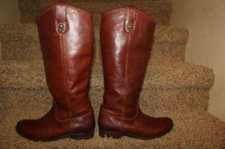 Frye Melissa Button Boot in Dark Brown Womens Size 7