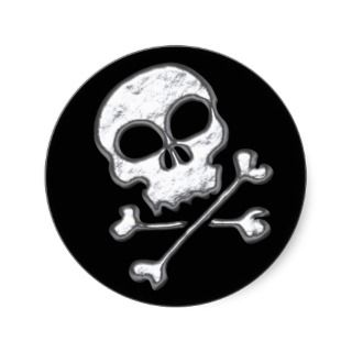 SKULL & CROSSBONES STICKERS