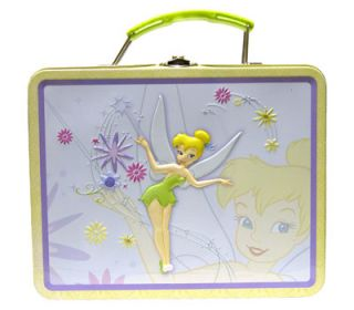 Disney Tinkerbell School Girls Metal Tin Lunch Box Bag