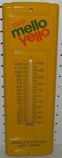 Enjoy Mello Yello Metal Tin Thermometer 14 Vintage Coca Cola Coke