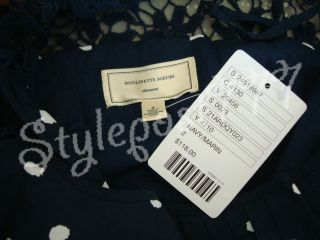 Anthropologie Melora Polka Dot Navy Dress by Moulinette Sos Size 2