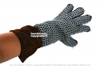 Medieval Knight Chainmail Gloves Armor Gauntlet LARP