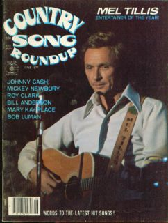 Country Song Roundup Mel Tillis Johnny Cash Mickey Newbury Roy Clark 6