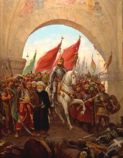 Mens Ring with Fatih Sultan Mehmet Entry Into Constantinople