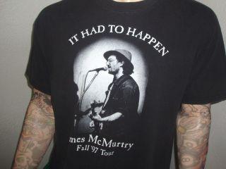 James McMurtry Concert Shirt Vtg 90s Buzzin Cousins XL