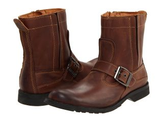 Earthkeepers City Side Zip Buckle Leather Boots Brown Mens