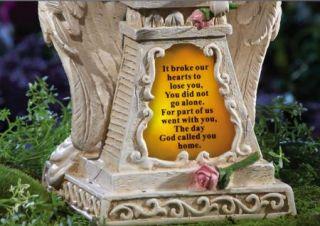 Solar Weeping Angel Statue Cemetery Garden Figurine