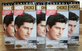 Clairol Mens Choice Natural Black Hair Color M44, Head, Beard