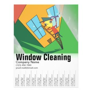 Window Cleaning Template Flyers