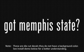 This listing is for 2 got memphis state? die cut decals.