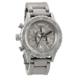 Mens 42 20 Tide Stainless Steel Grey Dial Chronograph Dive Watch