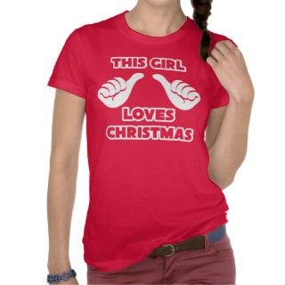 This Girl Loves Christmas American Apparel Shirt