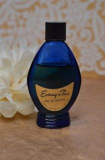 Evening in Paris Eau de Toilette 50 oz Blue Glass Bottle RARE