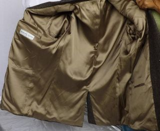 Robert Stock Mens Wool Camel Hair Brown Tweed Sport Coat Jacket Sz 42L