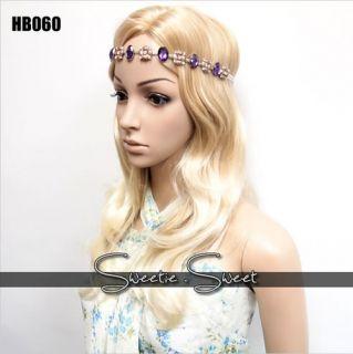 Celeb Elegant Fascinator Bling Crystal Hair Head Band Tiara Headpiece