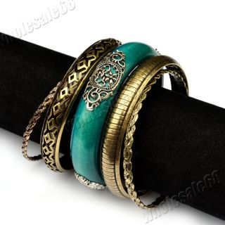 Jewelry Wholesale 1set Vintage Wood Bangle Mens Womens Bracelet Cuff