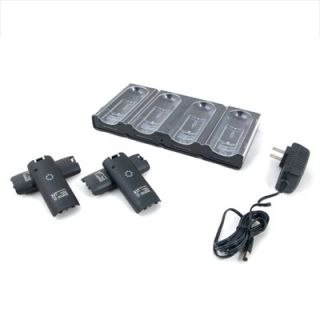Memorex Quad Controller Charging Kit for Wii, 4 Rechargeable Battery