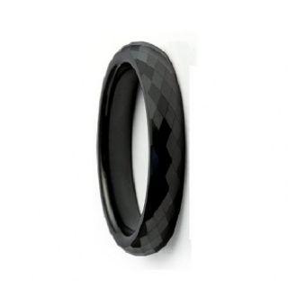 Envyj Tungsten Carbide Men 6mm Black Wedding Band Ring NV37A Size 9 10