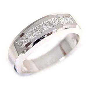 1ct Platinum Men Diamond Ring Wedding Anniversary MenS