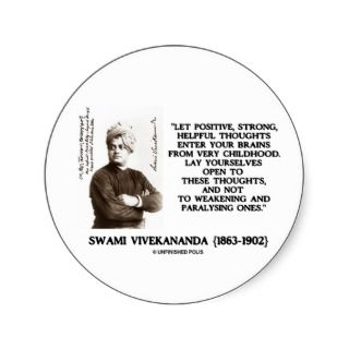 Swami Vivekananda Positive Strong Helpful Thoughts Stickers