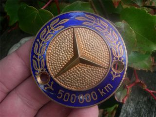 Mercedes Benz 500 000 Kilometer Mileage Badge