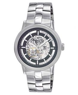 Kenneth Cole Watch, Mens Automatic Skeleton Stainless Steel Bracelet