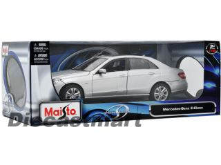 Maisto 1 18 Mercedes Benz E Class New Diecast Model Car Silver