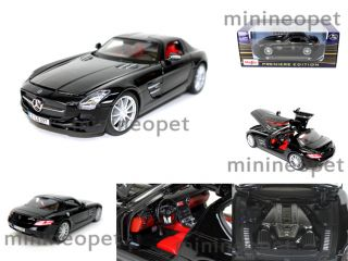 Maisto 2011 Mercedes Benz SLS AMG Gullwing 1 18 Black