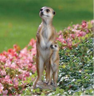 Meerkat Duo Garden Sculpture Outdoor Statue