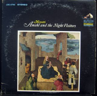 Grossman Menotti Amahl The Night Visitors LP Mint LSC 2762 3rd Vinyl