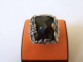 925 Sterling Silver Onyx Ring Fatih Sultan Mehmet II