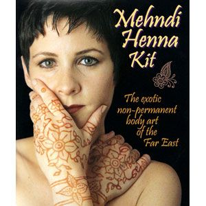 Jacquard Mehndi Henna Far East Complete Body Art Kit Temporary Tattoo